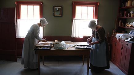 Baking in Rosebank Cottage
