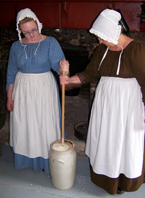 Churning Butter at Ross Farm