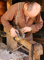 Ox Shoeing at Ross Farm Museum