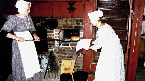 Baking bread at Ross Farm Museum