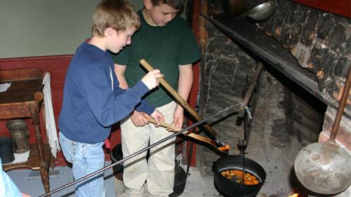 School Program Open Hearth Cooking