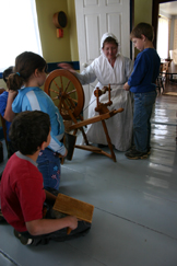 School Group Hands On At Ross Farm Museum