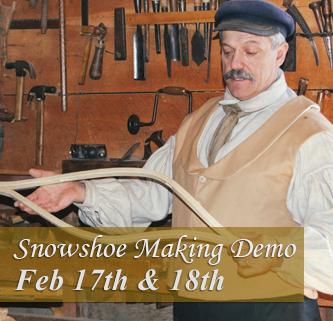 Snowshoe making demonstration event