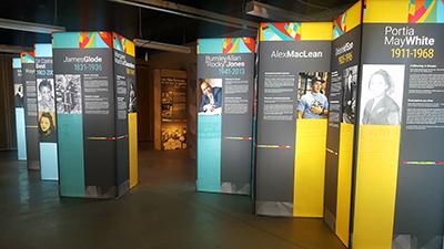 Vanguard exhibit at Ross Farm Museum